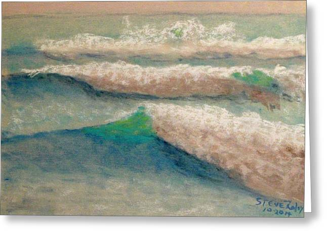 Sand Pastels Greeting Cards - Between Sets Greeting Card by Stephen Raley