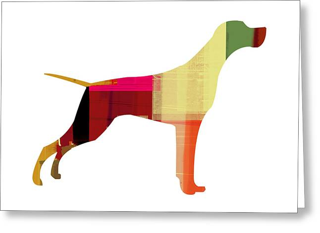 Pointer Greeting Cards - Setter Pointer Greeting Card by Naxart Studio