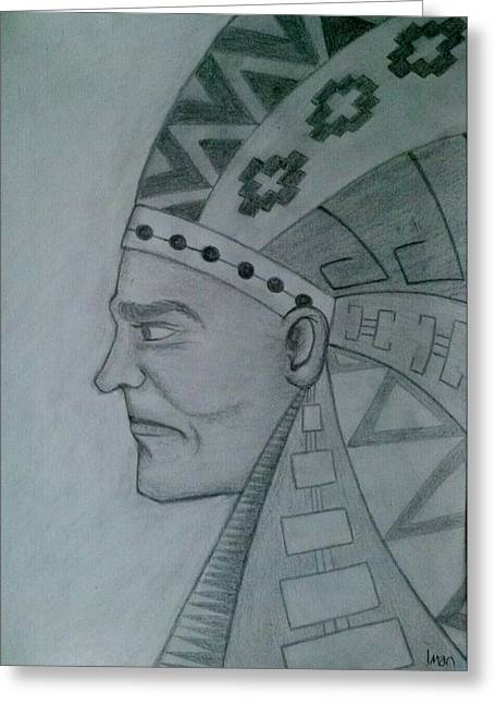 Pharaoh Drawings Greeting Cards - Setti Greeting Card by Iman  Elsayed