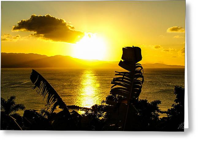 Montego Bay Greeting Cards - Setting in the bay Greeting Card by Marc Thomas
