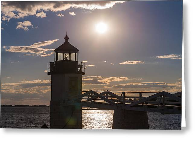 Setting Point Greeting Card by Kristopher Schoenleber