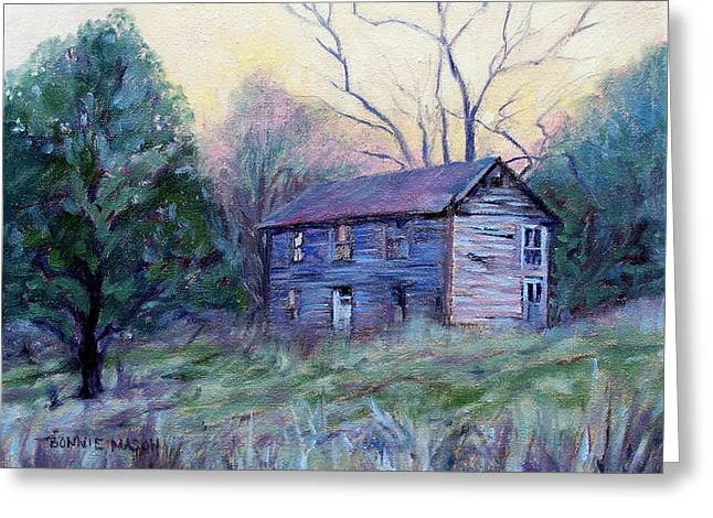 Old Home Place Paintings Greeting Cards - Setting Sun Greeting Card by Bonnie Mason