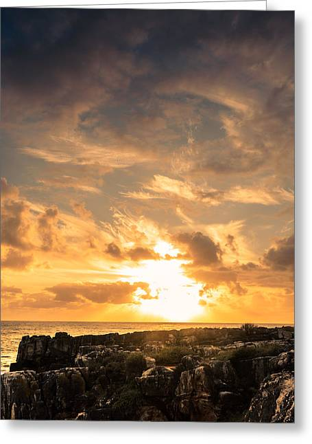 Colorful Cloud Formations Greeting Cards - Setting Sun II Greeting Card by Marco Oliveira