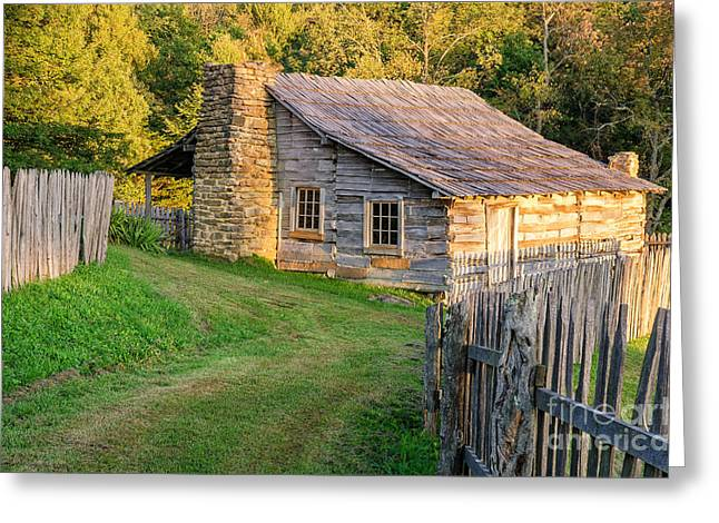Log Cabins Greeting Cards - Settling In Greeting Card by Anthony Heflin