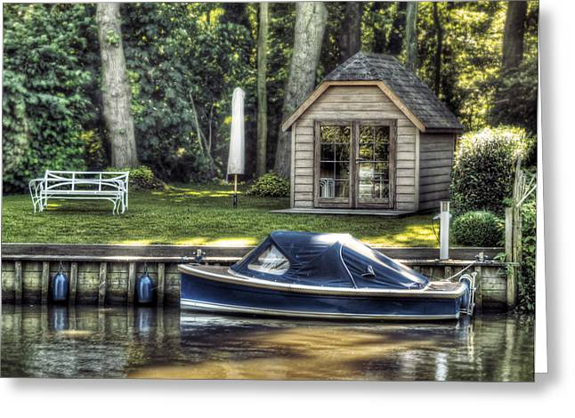 Yachting Greeting Cards - Boat Dock Greeting Card by Wim Lanclus