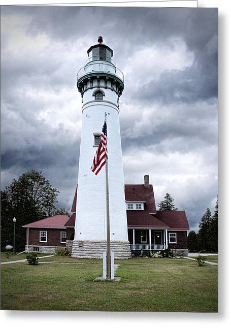 Choix Greeting Cards - Seul Choix Point Lighthouse in Michigan Greeting Card by Randall Nyhof