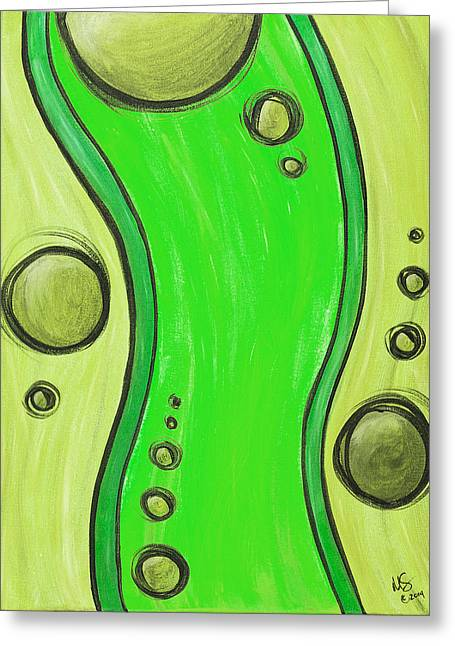 Lime Light Greeting Cards - Seuss Green Greeting Card by Melissa Smith
