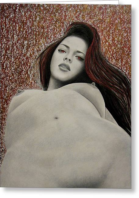Sex Drawings Greeting Cards - Seven Deadly Sins - Lust Greeting Card by Lynet McDonald