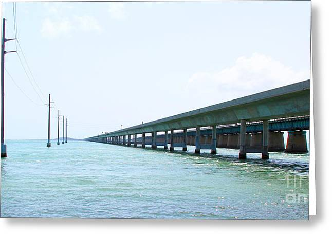 Robbies Greeting Cards - Seven Mile Bridge Greeting Card by Carey Chen
