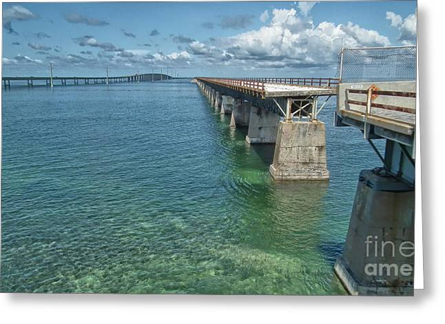 Us1 Greeting Cards - Seven Mile Bridges Greeting Card by Tammy Chesney