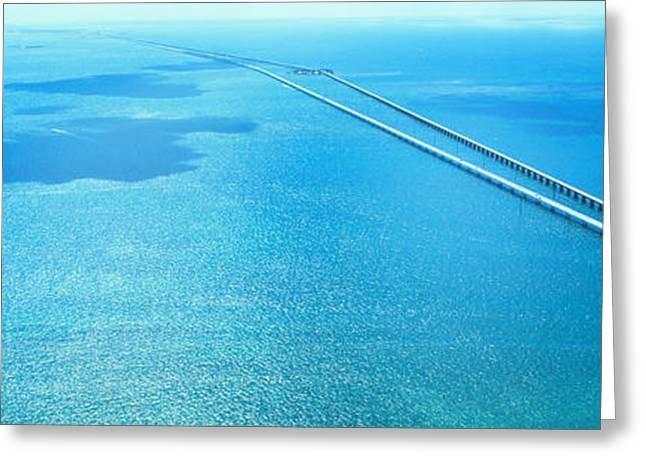 Florida Bridge Greeting Cards - Seven Miles Bridge Florida Keys Fl Usa Greeting Card by Panoramic Images