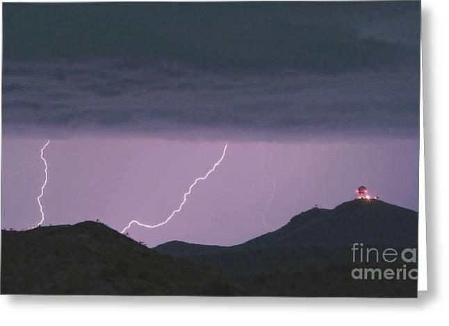 Arizona Lightning Greeting Cards - Seven Springs Lightning Strikes Greeting Card by James BO  Insogna