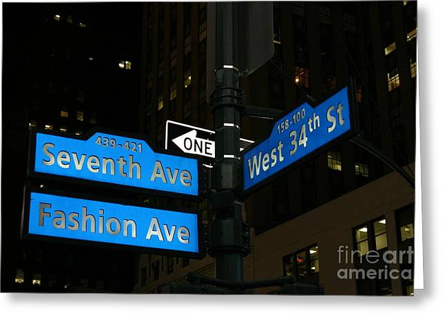 Fashion Photos For Sale Greeting Cards - Seventh Ave and West 34th Street Greeting Card by John Rizzuto