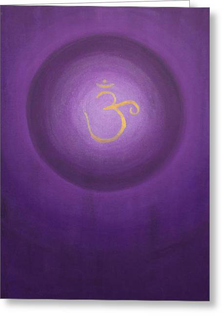 Crown Chakra Greeting Cards - Seventh Chakra Greeting Card by Eileen Lighthawk