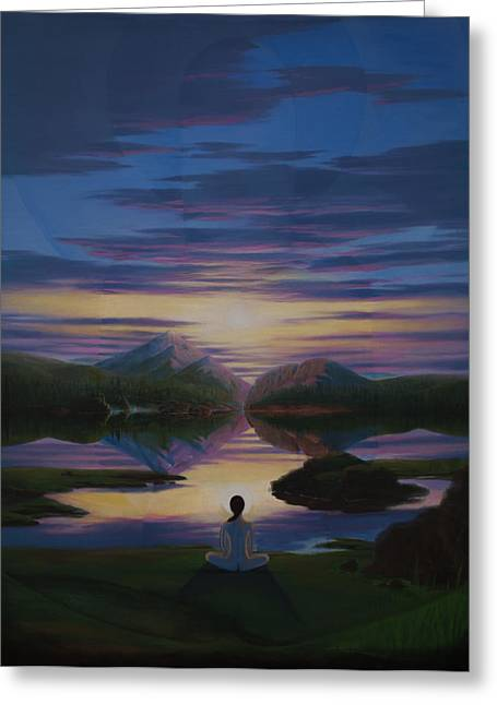 Empower Paintings Greeting Cards - Seventh Day Facet Greeting Card by Eric Austin