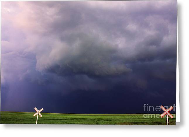 Severe Weather Greeting Cards - Severe Storm Greeting Card by Francis Lavigne-Theriault