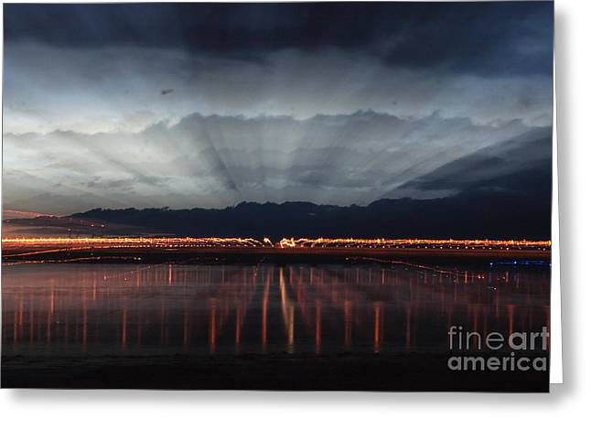 Wales Prints Greeting Cards - Severn Bridge Greeting Card by Brian Roscorla