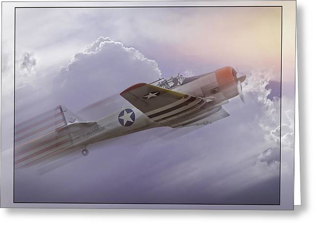 Seversky At-12 Guardsman Greeting Card by Steve Benefiel