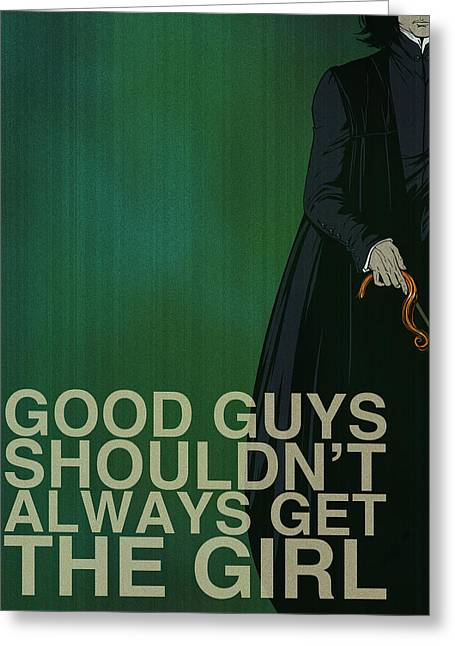 Green Digital Art Greeting Cards - Severus Snape Greeting Card by Christopher Ables