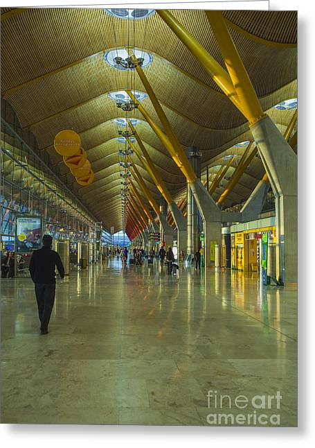 Transfer Greeting Cards - Seville airport Greeting Card by Patricia Hofmeester