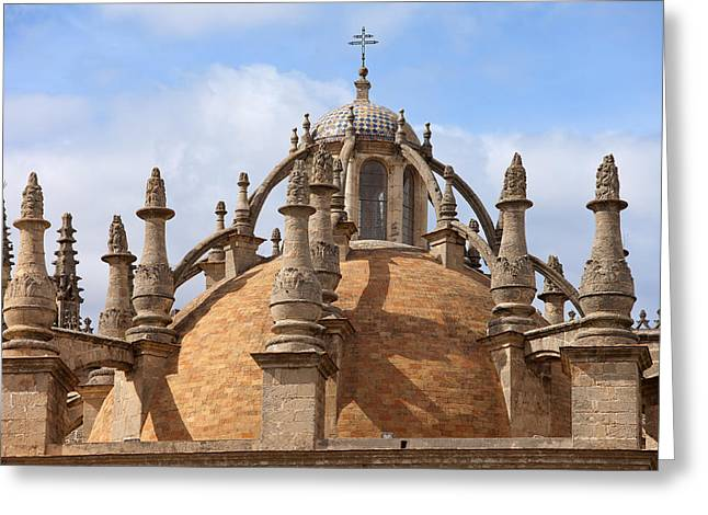 Finial Greeting Cards - Seville Cathedral Dome Greeting Card by Artur Bogacki