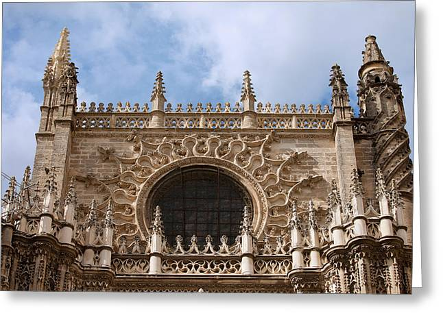 Finial Greeting Cards - Seville Cathedral Gothic Architecture Greeting Card by Artur Bogacki