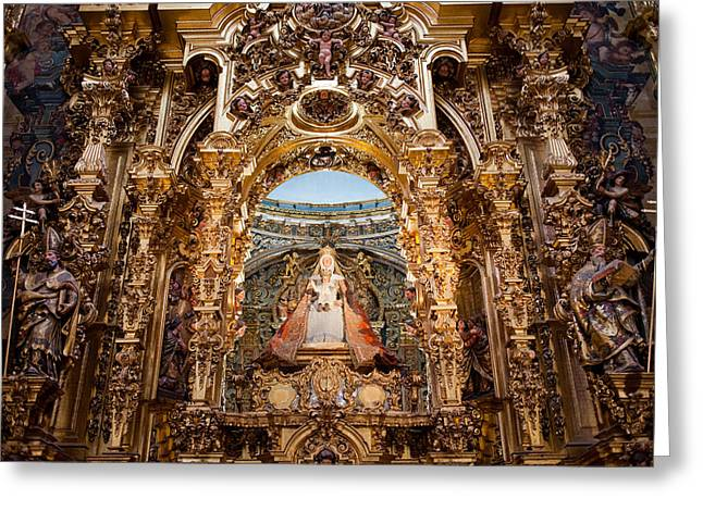 Spanish Art Sculpture Greeting Cards - Seville Cathedral Reredos Greeting Card by Artur Bogacki