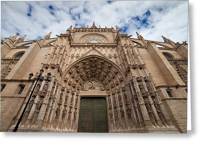 Sculpture Relief Greeting Cards - Seville Cathedral West Facade Greeting Card by Artur Bogacki