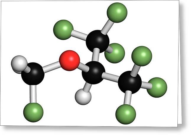 Sevoflurane Anesthetic Molecule Greeting Card by Molekuul