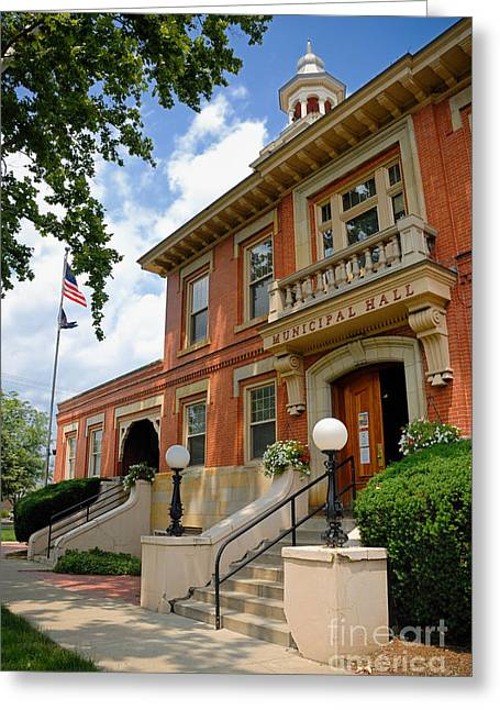 Sewickley . Greeting Cards - Sewickley Municipal Hall Greeting Card by Amy Cicconi