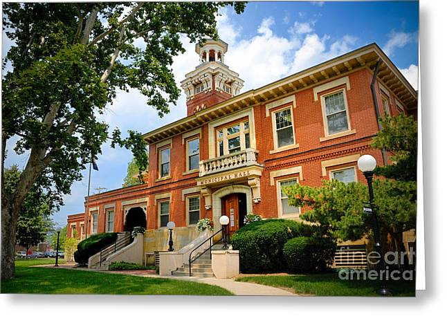 Entryway Greeting Cards - Sewickley Pennsylvania Municipal Hall Greeting Card by Amy Cicconi