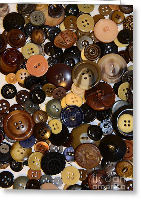Sewing Rooms Greeting Cards - Sewing - Buttons and More Buttons Greeting Card by Paul Ward