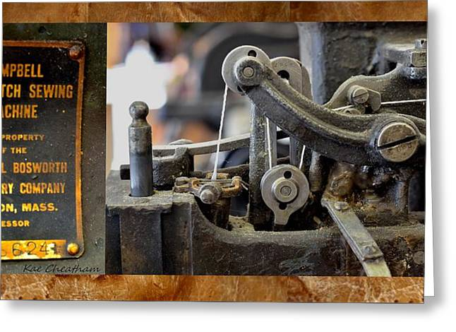 Sewing Machine For Leather Greeting Card by Kae Cheatham