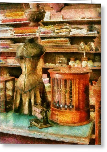 Sewing - Supplies For The Seamstress Greeting Card by Mike Savad