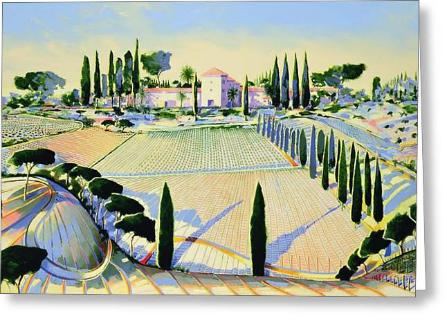 Italian Landscapes Greeting Cards - Sewing the Seed of Love Greeting Card by Andrew Hewkin