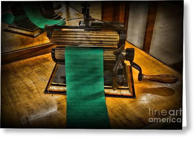 Manual Labor Greeting Cards - Sewing - The Victorian Seamstress  Greeting Card by Paul Ward