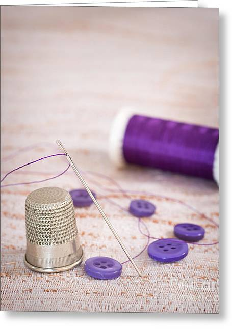 Sewing Hobby Greeting Cards - Sewing Thimble Greeting Card by Amanda And Christopher Elwell