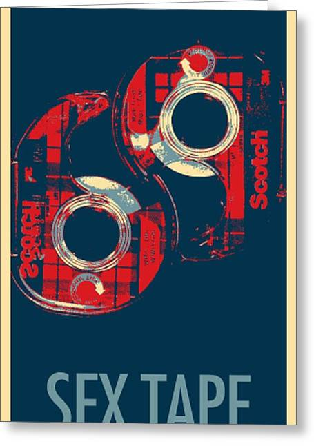 Shepard Fairey Greeting Cards - SEX TAPE in HOPE Greeting Card by Rob Hans