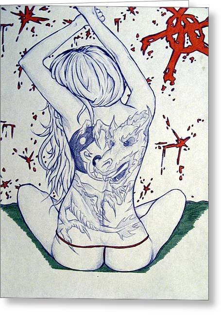 Sex Drawings Greeting Cards - Sexarchy Greeting Card by Michael Toth