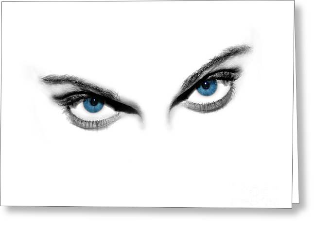 Artistic Vision Greeting Cards - Sexy Blue Eyes  Greeting Card by Jt PhotoDesign