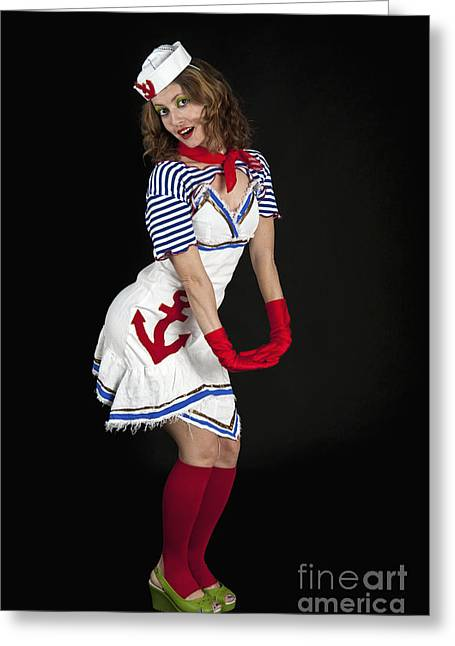 Women Only Greeting Cards - Sexy female sailor 1 Greeting Card by Ilan Amihai