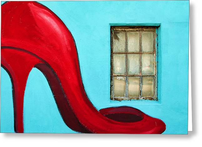 Steven Michael Photography And Art Greeting Cards - Sexy Red Pumps Greeting Card by Steven  Michael