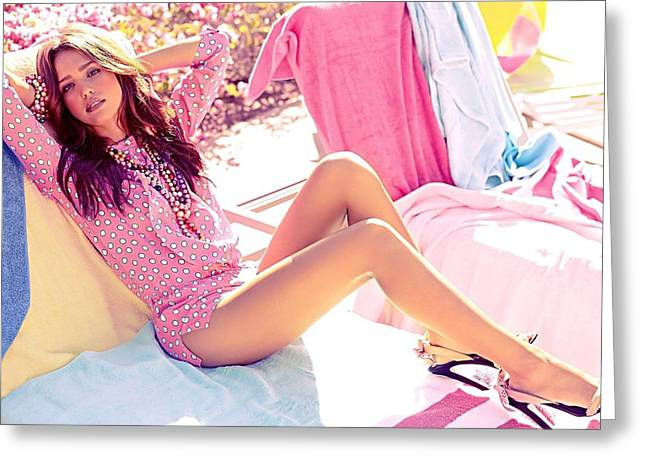 Jessica Alba Greeting Cards - Sexy Women Greeting Card by Feres007
