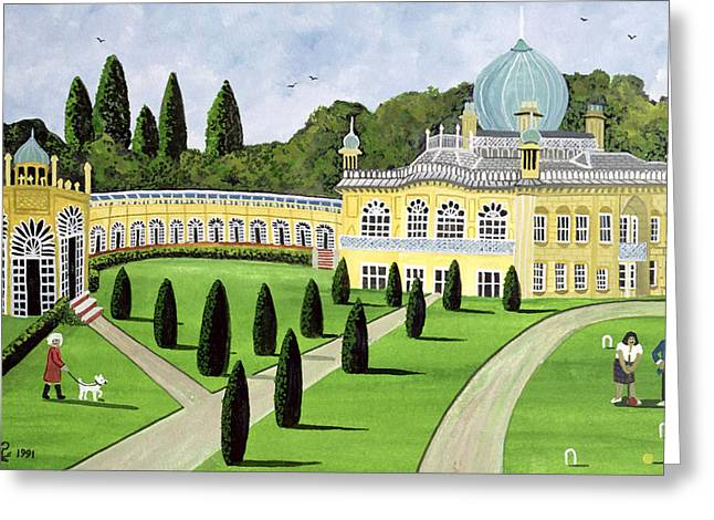 Croquet Greeting Cards - Sezincote, Gloucestershire, 1991 Greeting Card by Judy Joel