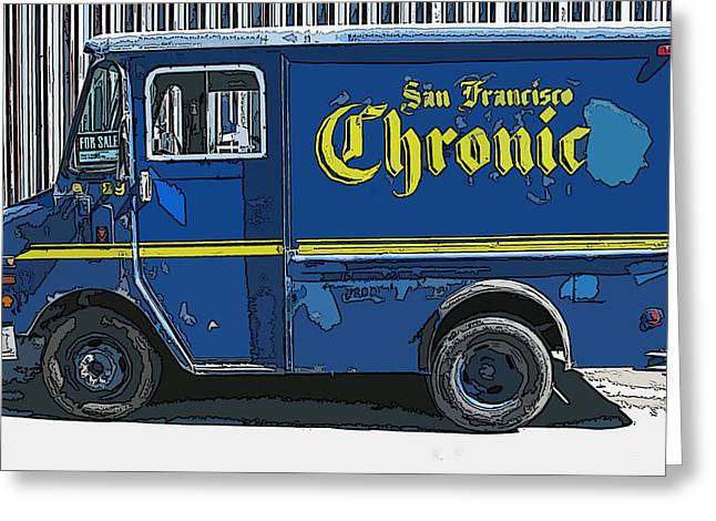Samuel Sheats Greeting Cards - SF Chronic Truck for Sale Greeting Card by Samuel Sheats