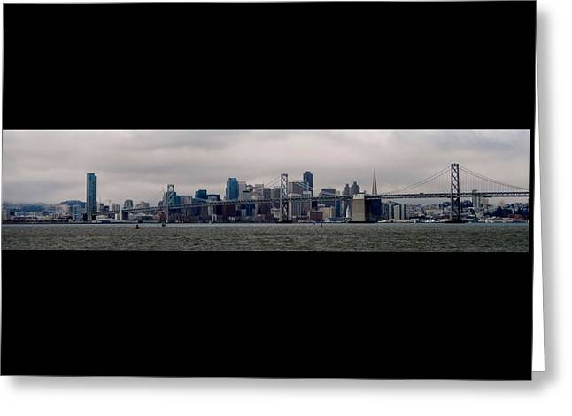 Rincon Greeting Cards - San Francisco from Oakland Greeting Card by MT Karthik