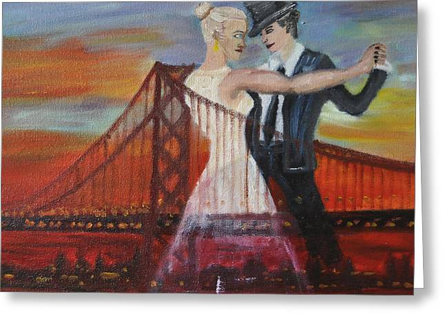 Equality Paintings Greeting Cards - SF Scene 2 Greeting Card by Vykky Gamble