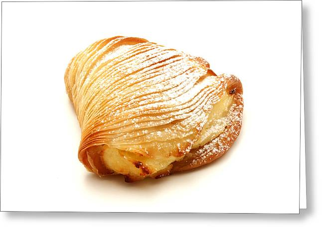 White Background Greeting Cards - Sfogliatella Greeting Card by Fabrizio Troiani