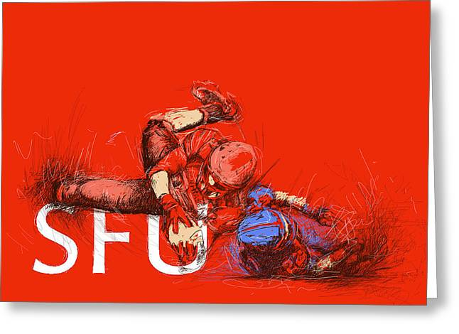 SFU Art Greeting Card by Catf
