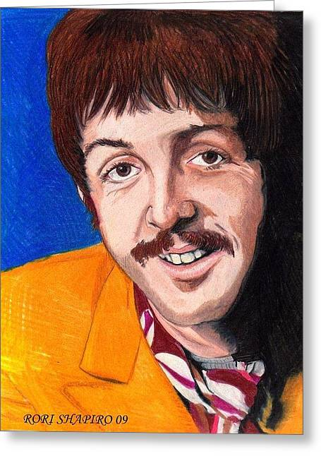 Sgt Pepper Greeting Cards - Sgt Pepper Paul Greeting Card by Rori Shapiro